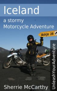 woman motorcycle rider to Askja